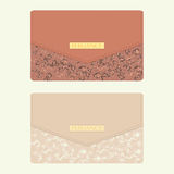Cosmetic bag in beige and brown colors Royalty Free Stock Photo