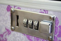 Cosmetic bag lock Royalty Free Stock Images