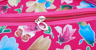 Cosmetic bag, zip. Pic of cosmetic bag on a white back Stock Image