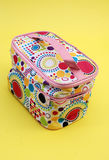 Cosmetic bags. Pic of cosmetic bag on a white back Stock Images