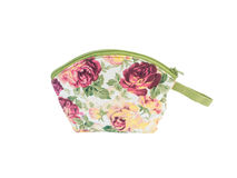 Cosmetic bagwith flower pattern Stock Photography