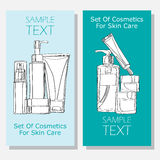 Cosmetic banners Royalty Free Stock Photo
