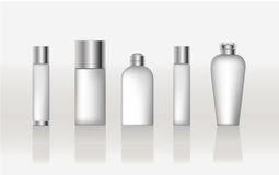Cosmetic beauty containers. With metal cap Royalty Free Stock Image