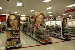 Cosmetic beauty store target Royalty Free Stock Image