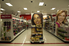 Cosmetic beauty store target Stock Image