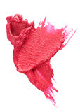 Cosmetic blot. Red abstract detail on white royalty free stock photo
