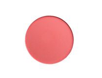 Cosmetic blush or make up powder isolated on white background. clipping path. Cosmetic blush or make up powder isolated on white background. clipping path royalty free stock images