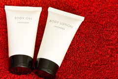 Cosmetic body gel and lotion Stock Image