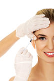 Cosmetic botox facial injection Stock Image