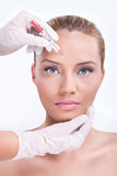 Cosmetic botox injection Royalty Free Stock Photo