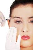Cosmetic botox injection Stock Image