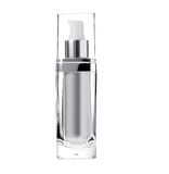 Cosmetic bottle. White background cosmetic bottle of glass stock images
