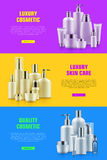 Cosmetic bottle mockup ads Stock Images