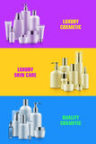 Cosmetic bottle mockup banner Royalty Free Stock Photography