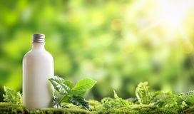 Cosmetic bottle royalty free stock photography