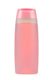Cosmetic Bottle with Pink Liquid (Facial Tonic) Isolated on White Background Royalty Free Stock Images
