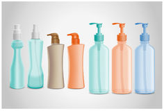Cosmetic Bottle. Vector illustration - Cosmetic Bottle. Created with adobe illustrator. finger, background, are Created separately Royalty Free Stock Image