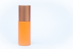 Cosmetic bottle  on white background Stock Photos