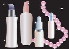 Cosmetic bottles. Stock Photo
