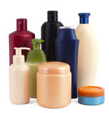 Cosmetic bottles Stock Photos