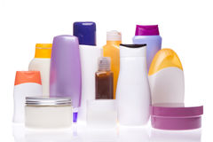 Cosmetic bottles Stock Image