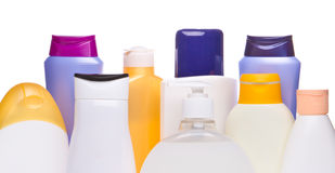 Cosmetic bottles Stock Photos
