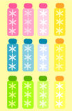 Cosmetic bottles. Colorful cosmetic spa bottles collection. Vector illustration Royalty Free Stock Images