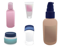 Cosmetic bottles Stock Photography