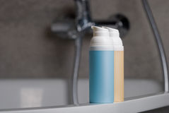 Cosmetic bottles Royalty Free Stock Photo