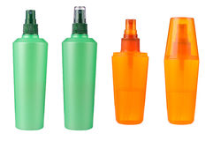Cosmetic bottles isolated Royalty Free Stock Images
