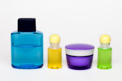 Cosmetic bottles Stock Photo