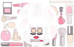 Cosmetic brand or make-up Royalty Free Stock Photo