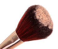 Cosmetic brush. And powder isolated on white Royalty Free Stock Images