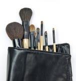 Cosmetic brush. Isolated on white Royalty Free Stock Image