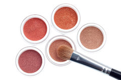 Cosmetic with brush royalty free stock photos