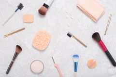 Cosmetic accessories Stock Photography