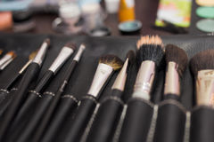 Cosmetic brush. Photo of the cosmetic brush Stock Image