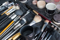 Cosmetic brush. Photo of the cosmetic brush Royalty Free Stock Photo