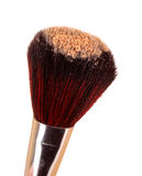Cosmetic brush and powder. On white Royalty Free Stock Images
