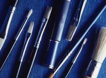 Cosmetic brushers Stock Image