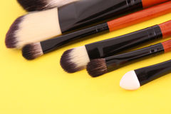 Cosmetic brushes royalty free stock photos