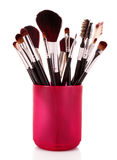 Cosmetic brushes stock image