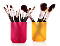 Cosmetic brushes stock photography