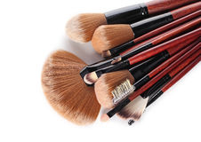 Cosmetic brushes Royalty Free Stock Photo