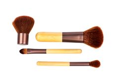 Cosmetic brushes. Isolated Royalty Free Stock Image