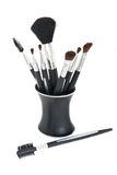 Cosmetic Brushes in Stand Royalty Free Stock Image