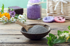 Cosmetic clay body mask Stock Photography