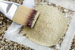 Cosmetic clay kaolin powder stock photo