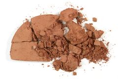 Cosmetic Color. Crushed blushon - makeup for fashion and beauty magazines Stock Images