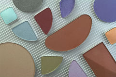 Cosmetic colors Royalty Free Stock Image